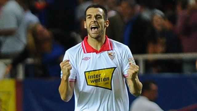 Spanish Liga - Negredo double helps Sevilla down Mallorca