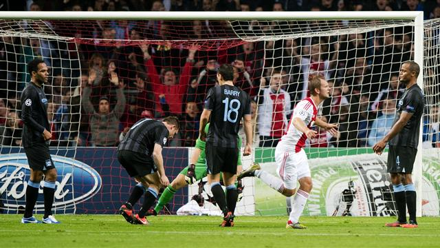 Champions League - Manchester City in damaging defeat at Ajax