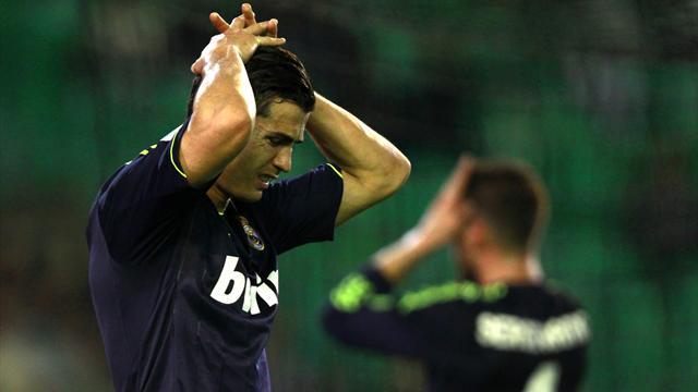 Liga - Real Madrid beaten by Benat strike