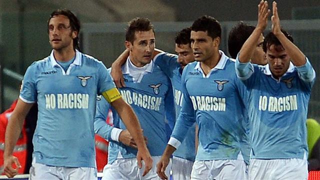 Italian Serie A - Lazio wear 'No Racism' shirts but fans sing racist chants