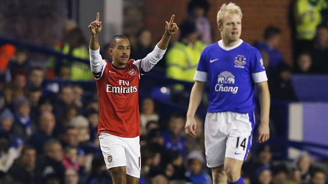 Premier League - Everton hit back for draw after Walcott's early opener