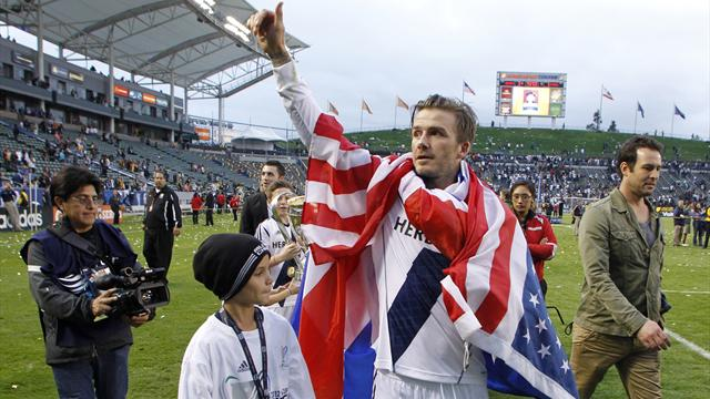World Football - Beckham bids LA Galaxy farewell with MLS Cup win