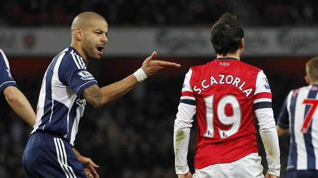 Premier League - Cazorla dive row as Arsenal beat West Brom