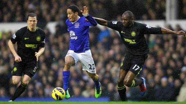 Premier League - Everton edge out Wigan