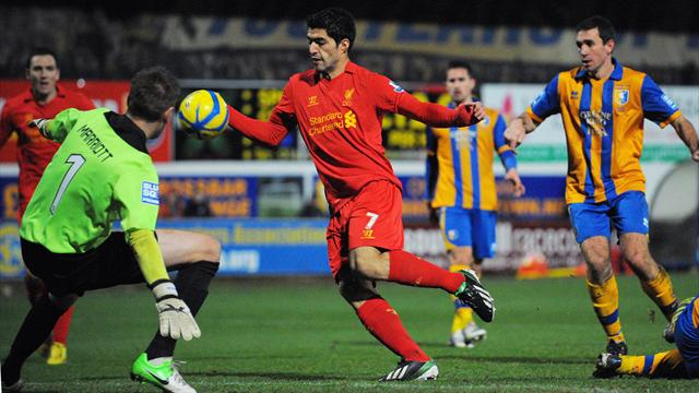 FA Cup - Suarez handball shatters Mansfield as Liverpool survive