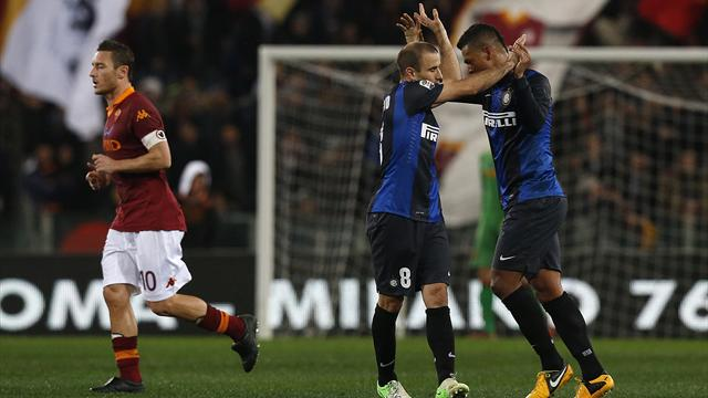 Serie A - Inter hold Roma at Olimpico