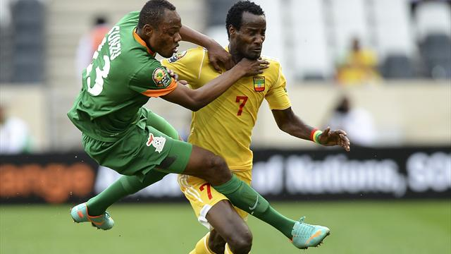 African Cup of Nations - 10-man Ethiopia battle to draw with Zambia