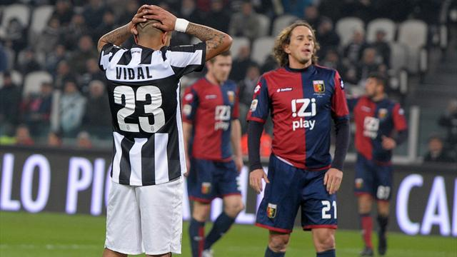 Italian Serie A - Juventus denied late penalty in draw with Genoa