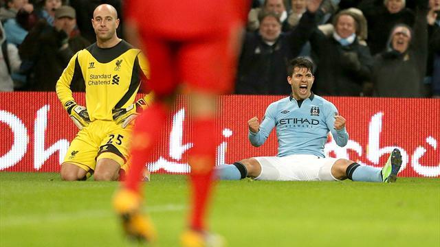 Premier League - Aguero genius earns Man City draw with Liverpool