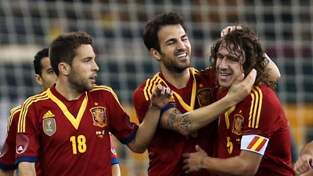 World Football - Spain too strong for Uruguay in Qatar