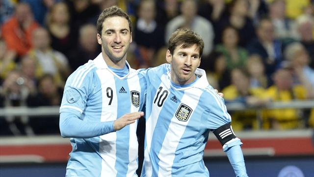 World Football - Argentina beat Sweden in five-goal thriller