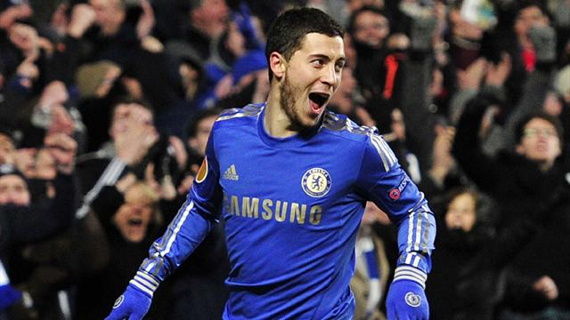 Europa League - Last-gasp Hazard strike sends Chelsea into last 16