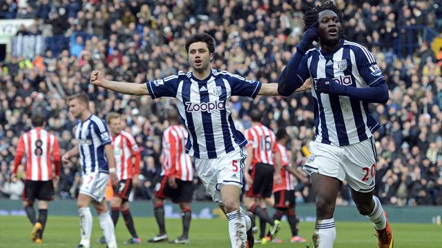 Premier League - Lukaku double gives West Brom victory over Sunderland