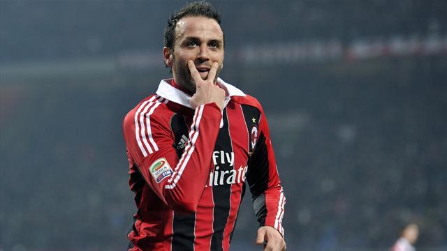 Italian Serie A - Pazzini shines as Milan rout 10-man Lazio