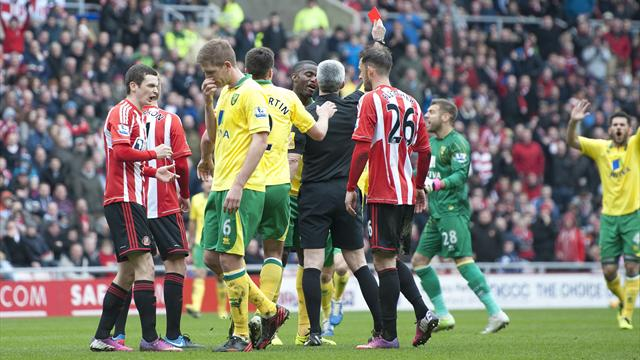 Premier League - Handball controversy as Norwich hold Sunderland