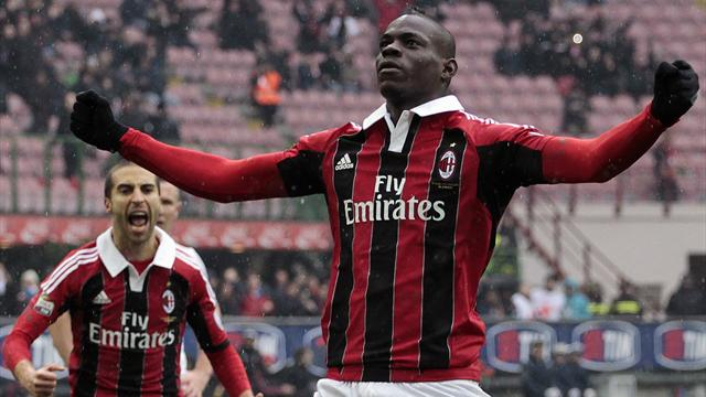 Serie A - Balotelli hits brace as Milan beat Palermo