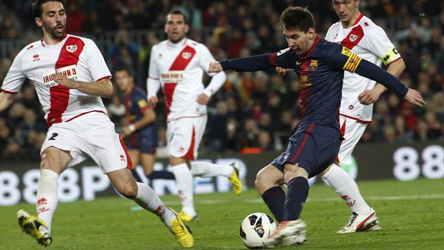 Spanish Liga - Messi extends scoring run as Barca cruise to win
