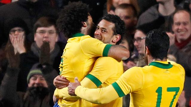 South American Football - Fred equaliser denies Russia win against Brazil