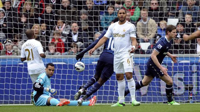 Premier League - Tottenham win at Swansea to go third