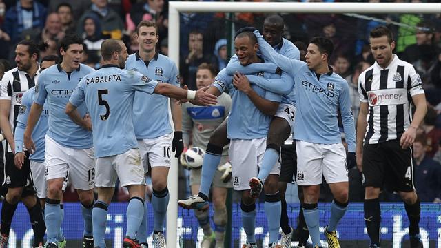 Premier League - Kompany nets on return as City crush Newcastle