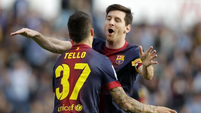 Liga - Messi sets new milestone as Celta hold Barca