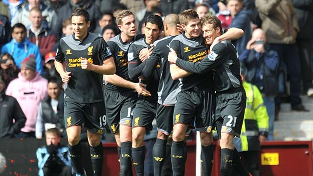Premier League - Gerrard inspires Liverpool win at Villa Park