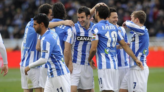 Liga - Granada late show hits Socieded hopes