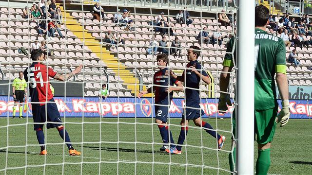 Serie A - Pinilla strikes twice as Cagliari sink Inter