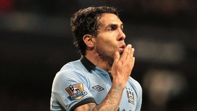Premier League - Tevez strike gives Man City win over Wigan