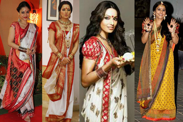 Saree dress up style