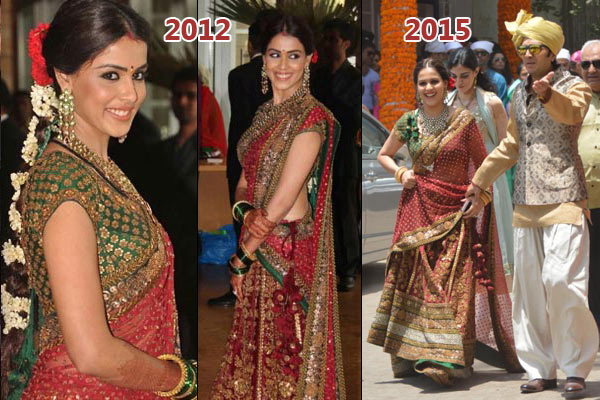 Inside pictures genelia at her brother s wedding with for Dress for my brothers wedding