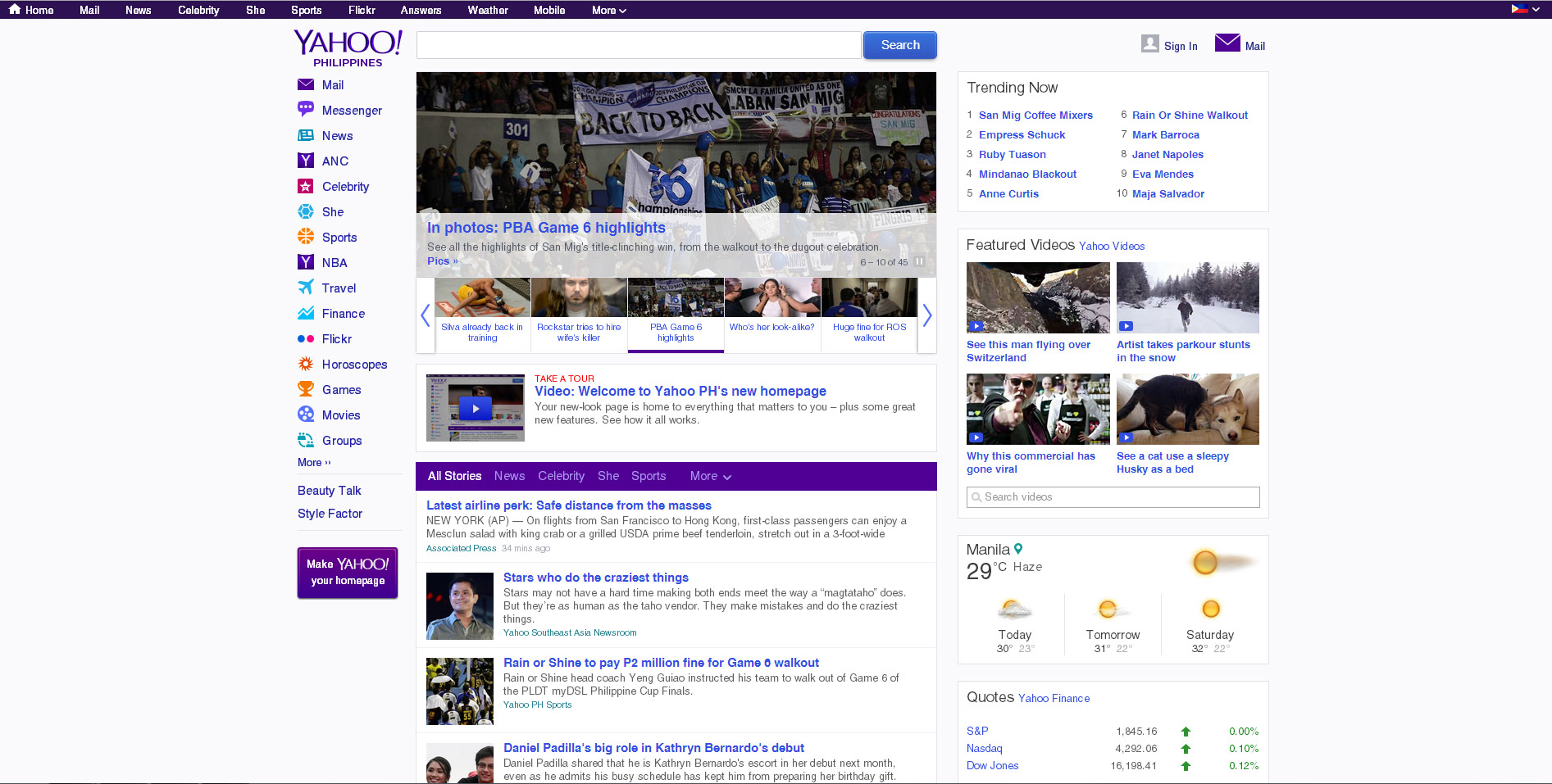Yahoo philippines has just unveiled its brand new homepage which