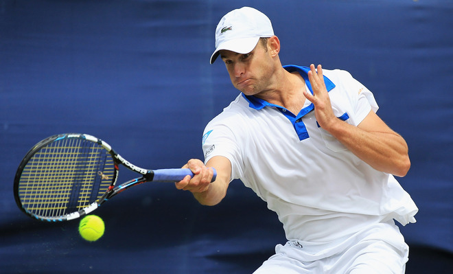 Andy Roddick Of The United States Of America In Action Against Fabio Fognini Of Italy Getty Images