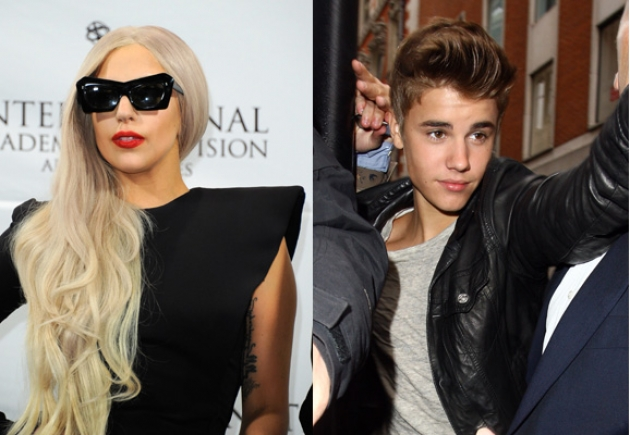 Lady Gaga, Justin Bieber -- Getty Premium