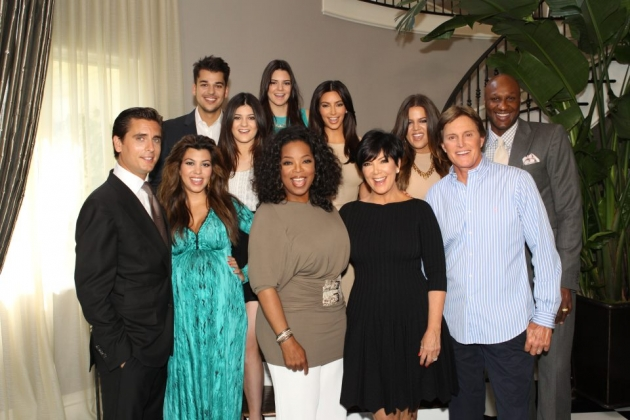 Oprah with the Kardashian/Jenner family -- Facebook