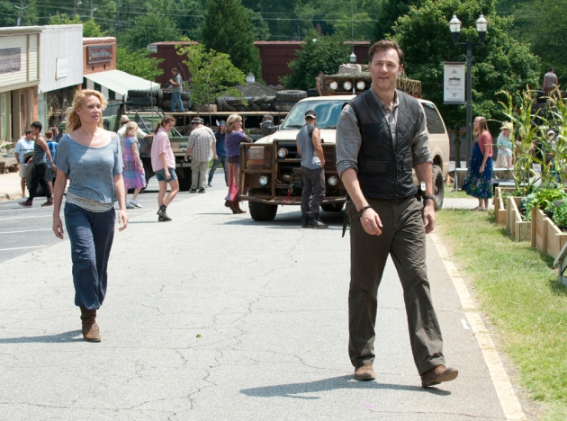 Andrea (Laurie Holden) with The Governor (David Morrissey) in Season 3, Episode 3 of AMC's 'The Walking Dead' -- AMC