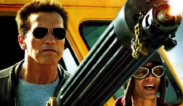 Arnold Schwarzenegger and Johnny Knoxville in 'The Last Stand' -- Lionsgate