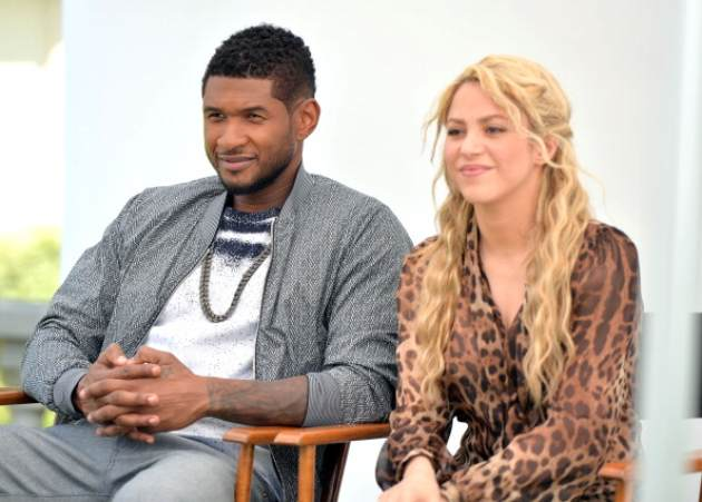 Usher and Shakira attend the NBC Universal Summer 2013 Press Day at Langham Hotel on April 22, 2013 in Pasadena, Calif. -- NBC