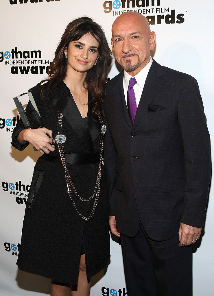 18th Annual Gotham Independent Film Awards NY 2008 Penelope Cruz Ben Kingsley