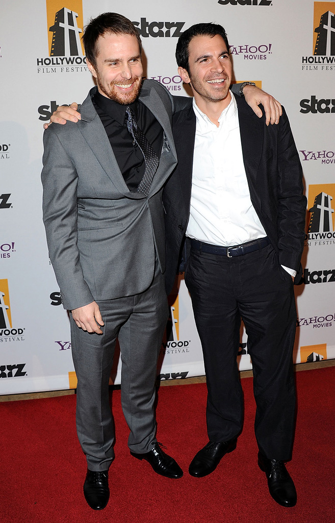2010 Hollywood Awards Sam Rockwell Chris Messina
