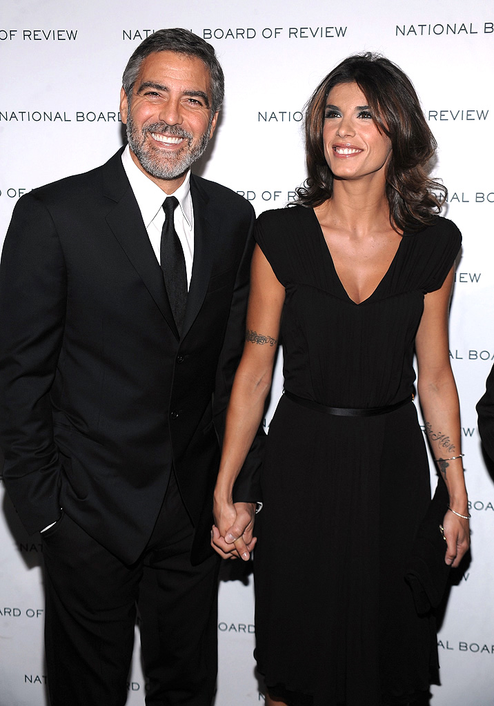 2010 National Board of Review George Clooney Elisabetta Canalis