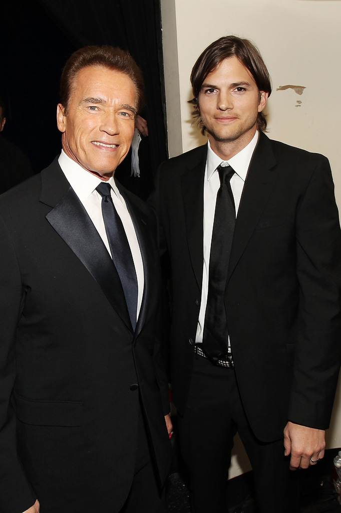 2011 Critics Choice Awards Arnold Schwarzenegger Ashton Kutcher