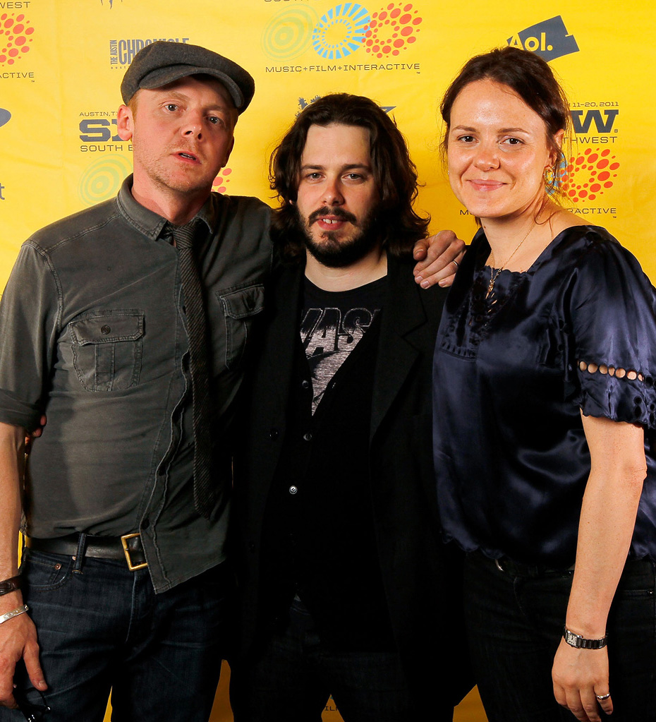 2011 SXSW Music and Film Festival Simon Pegg Edgar Wright Nira Park