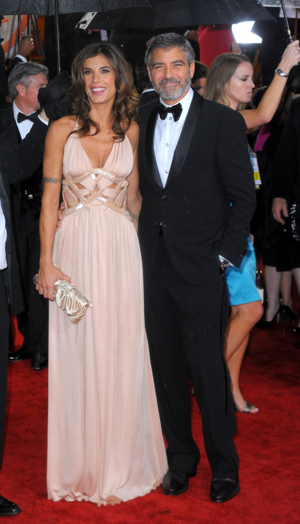 67th Annual Golden Globe Awards 2010 George Clooney Elisabetta Canalis