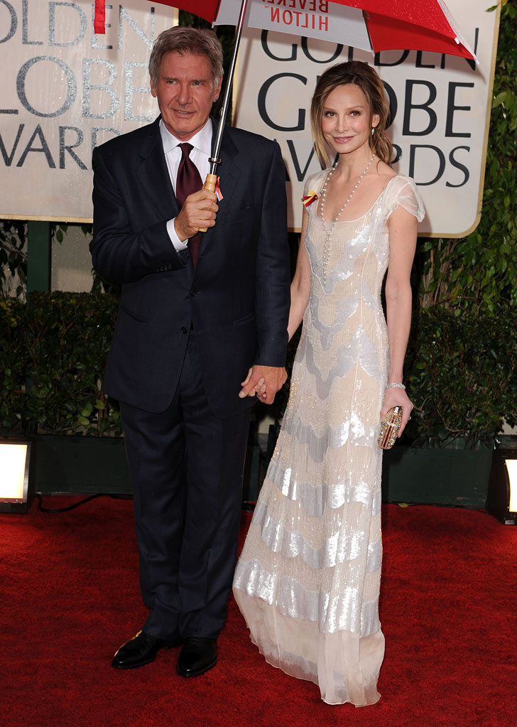 67th Annual Golden Globe Awards 2010 Harrison Ford Calista Flockhart