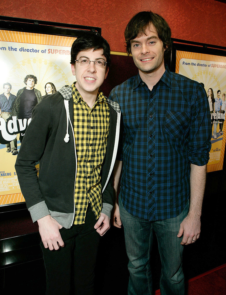 Adventureland LA Premiere 2009 Christopher Mintz Plasse Bill Hader