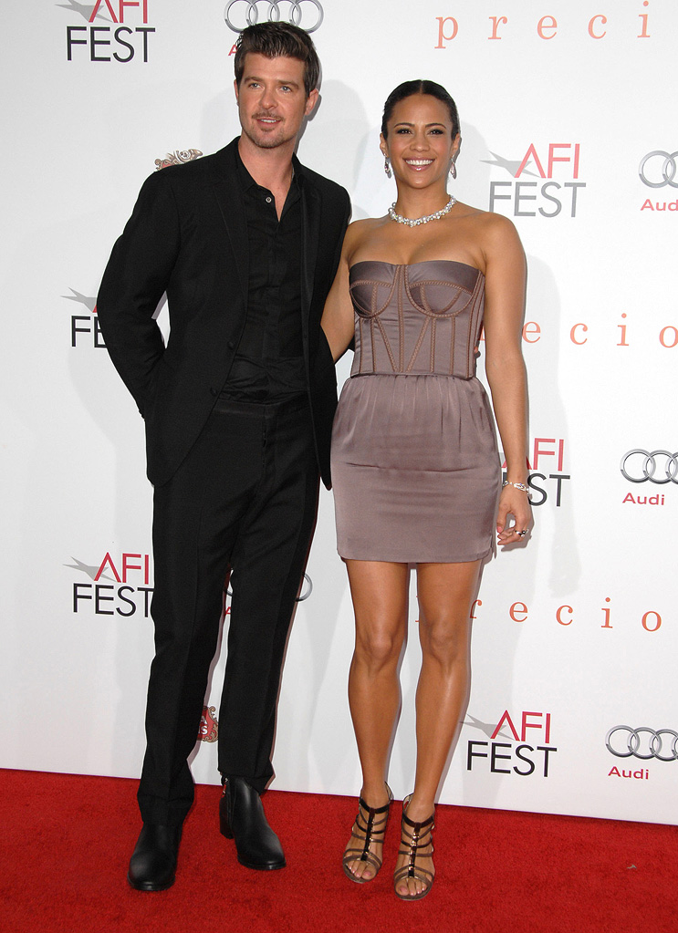 AFI Fest 2009 Precious Screening Robin Thicke Paula Patton