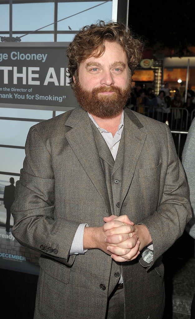 Up in the Air LA Premiere 2009 Zach Galifianakis