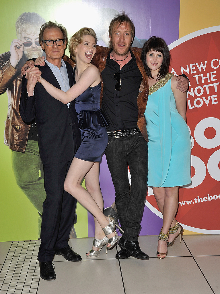 The Boat the Rocked UK Premiere 2009 Bill Nighy Talulah Riley Rhys Ifans Gemma Arterton