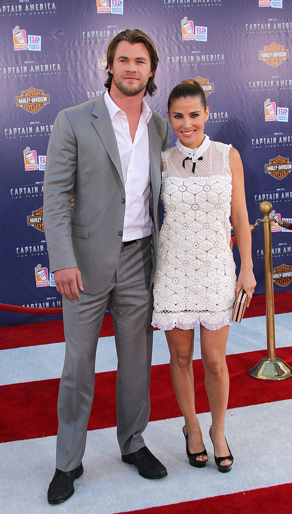 Captain America LA Premiere 2011 Chris Hemsworth Elsa Pataky